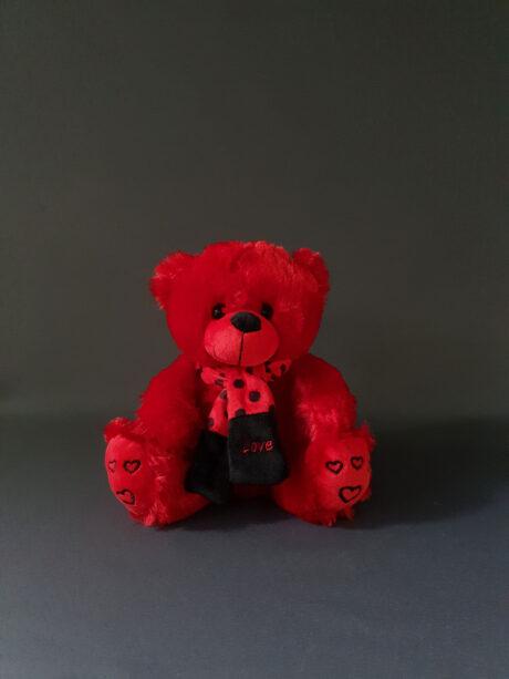 Κόκκινο Λουτρινο αρκουδάκι - 10€